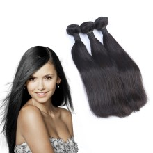 Straight Human Hair Bundles Weave Virgin Peruvian Hair 3pcs