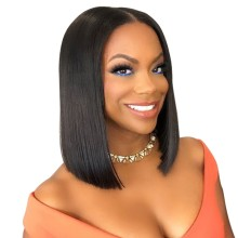150% Density Silky Straight 13*6 Deep Parting Lace Front Bob Wigs