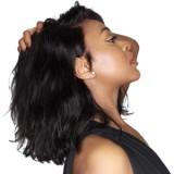 Wavy Natural Color Brazilian Human Hair 360 Lace Wigs