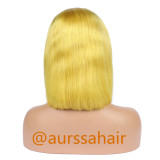 Luxury Custom Highlight yellow Lace Front Wig Human Remy Hair Superior Quality