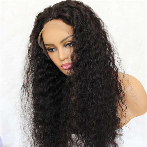 Natural Curly 100% Human Hair Lace Front Wig Preplucked Hairline Realistic Looking