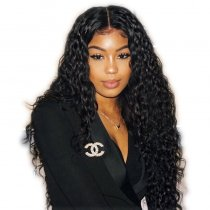 Loose Curly Indian Remy Hair Lace Front Wigs
