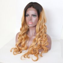 Ombre Blonde Human Hair Lace Front Wigs or Full Lace Wigs
