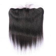 13*4 Straight Human Hair Lace Frontal Closure