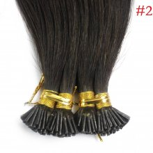 1g/s 100g Human Virgin Hair Dark Brown Pre-bonded Keratin Stick I-tip Hair Extensions