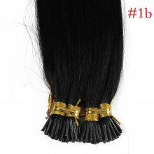 1g/s 100g Human Virgin Hair Black Pre-bonded Keratin Stick I-tip Hair Extensions