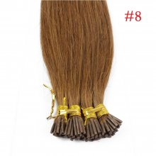 1g/s 100g Human Virgin Hair Brown Pre-bonded Keratin Stick I-tip Hair Extensions