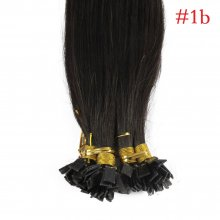 1g/s 100g Human Virgin Hair Natural Black Pre-bonded Keratin Flat Hair Extensions