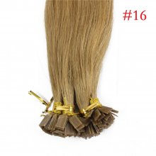 1g/s 100g Human Virgin Hair #16 Honey Blond Pre-bonded Keratin Flat Hair Extensions
