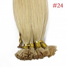 1g/s 100g Human Virgin Hair #24 Blonde Pre-bonded Keratin Flat Hair Extensions