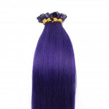 1g/s 100g Human Virgin Hair Purple Pre-bonded Keratin Flat Hair Extensions