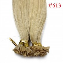 1g/s 100g Human Virgin Hair #613 Blonde Pre-bonded Keratin Flat Hair Extensions