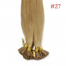 1g/s 100g Human Virgin Hair #27 Honey Blond Pre-bonded Keratin Flat Hair Extensions