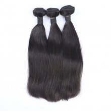Natural Color Silky Straight Bundles Weave Virgin Brazilian Hair