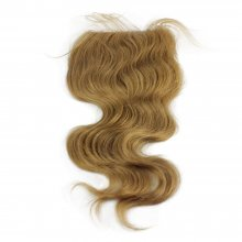 Body Wavy #27 Honey Blonde 4*4 Lace Closure Remy Human Hair