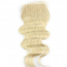 #613 Platinum Blonde 4*4 Lace Top Closure Body Wave