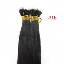 100 beads Undetectable Dyeable Natural Color 100% Indian Virgin Human Hair Brown Micro Nano Ring Hair Extensions