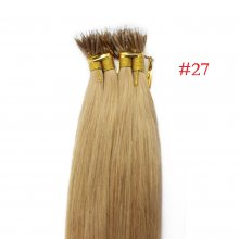 100 beads 16 ~30  Undetectable 100% Brazilian Virgin Human Hair #27 Honey Blonde Micro Nano Ring Hair Extensions
