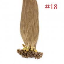 100% Human Hair Capsules #18 Ash Blonde Nail Tip Hair Silky Straight Keratin Fusion U Tip Hair Extensions 100s/lot