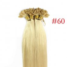 100% Human Hair Capsules #60 Blonde Nail Tip Hair Silky Straight Keratin Fusion U Tip Hair Extensions 100s/lot
