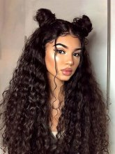 Loose Curly Human Hair Lace Front Wigs