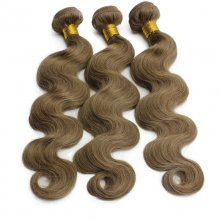 #8 Medium Ash Brown Human Hair Weave Body Wave Indian Remy Hair Weft