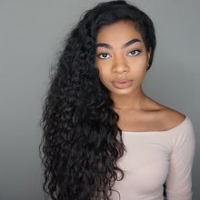 Long Curly Luxury 6  Deep Parting Glueless Lace Front Wigs