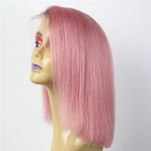 Luxury Custom Dark Roots Pastel Pink Lace Front Wig Human Remy Hair Superior Quality