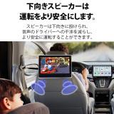 後部座席用DVD内蔵モニター 10.1インチ 下向きスピーカー ヘッドレストモニター(L0321J)