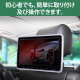 10.1インチフロントスピーカー後部座席用DVD内蔵モニター HDMI CPRMヘッドレストモニター(L0323J)