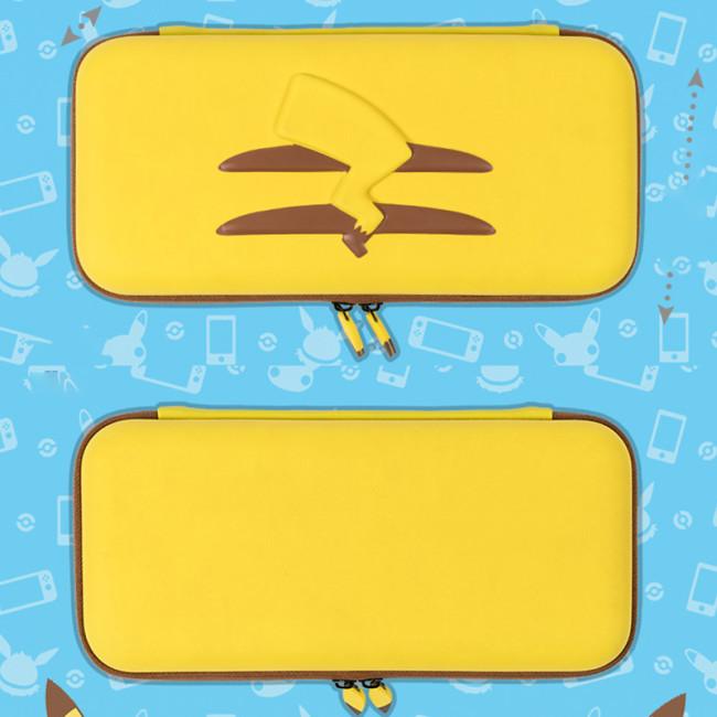Geekshare Pikachu 테마 닌텐도 스위치 스토리지 보호 가방 NS 하드 가방 브래킷 패키지 액세서리