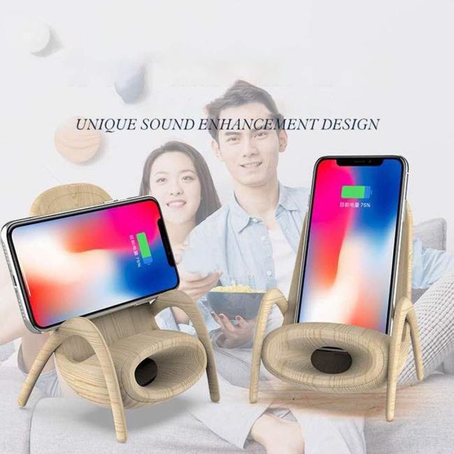 오카모 유니크 의자 모양 다기능 무선충전 단말기 홀더 홈 데코레이션
