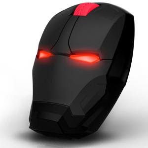 마블 어벤져스 아이언맨 모양과 같은 노트북 무소음  무선 마우스