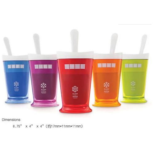 휴대용 플라스틱 다색 수동 밀크셰이크 가능 물컵