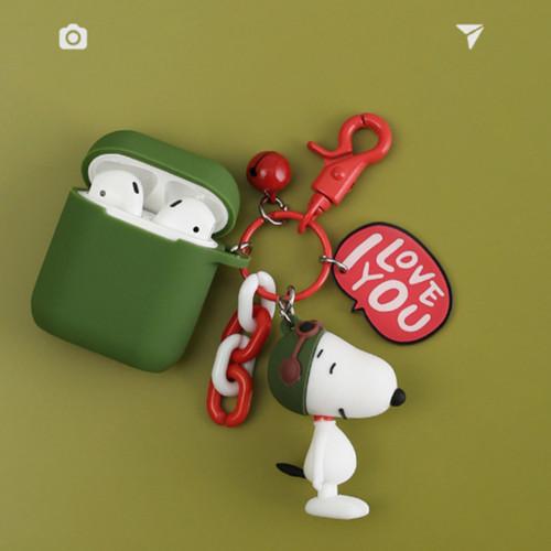 airpods1/2 스누피 피규어 아이폰 무선 블루투스 실리콘 보호커버