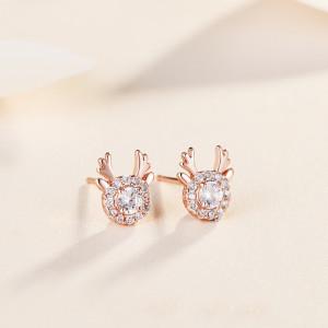 사슴뿔 모양 다이아몬드 S925 귀걸이