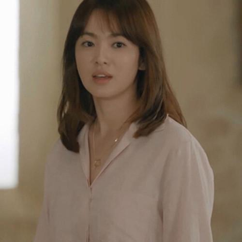 태양의 후예 송혜교 같은 심플한 디자인 쇄골 목걸이