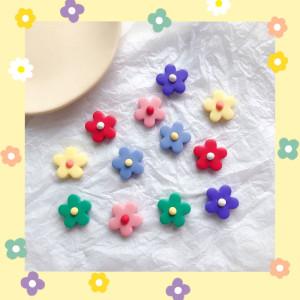 현아 풍 도토 재질 예쁜 꽃 모양 귀걸이 귀여운 귀걸이