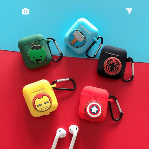 마블 어벤져스 인물 이미지 AirPods 케이스 이어폰 실리콘 보호커버