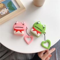 귀여운 개구리 캐릭터 에어팟 1세대 2세대 케이스  실리콘 충격방지 보호 커버