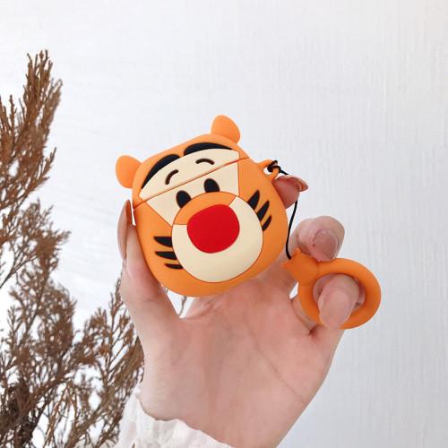 디즈니 티거 캐릭터 에어팟 1세대 2세대 케이스 실리콘 충격방지 호랑이 보호 커버