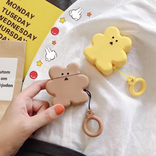 귀여운 곰돌이 에어팟 케이스 무선 블루투스 애플 헤드폰 실리콘 보호 커버