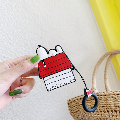 snoopy 카툰 에어팟 케이스 INS 스누피 이형 1세대 2세대 보호충전 가능 커버