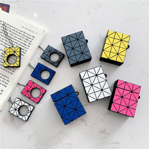 이세이 미야케 디자인 에어팟 케이스  애플 헤드폰 충격방지 실리콘 보호 커버