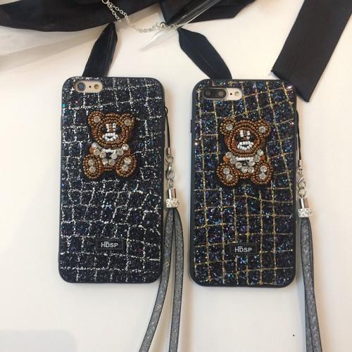 인조 다이아몬드 곰돌이 아이폰 케이스 부드러운 실리콘 애플폰 보호 커버