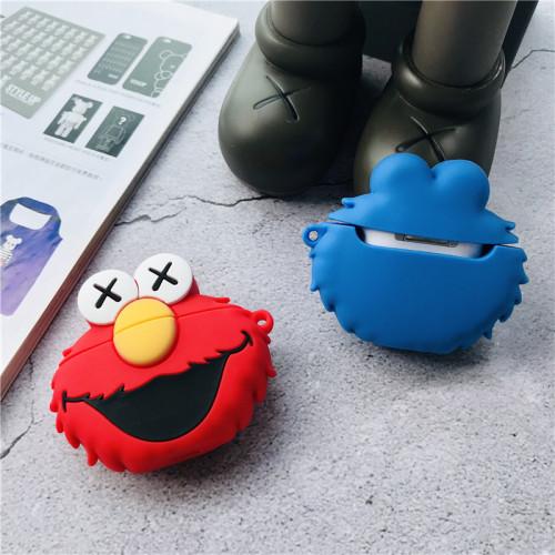 세서미 스트리트 카툰 에어팟 케이스 애플 에어포트2 블루투스 헤드셋 실리콘 3D 커버