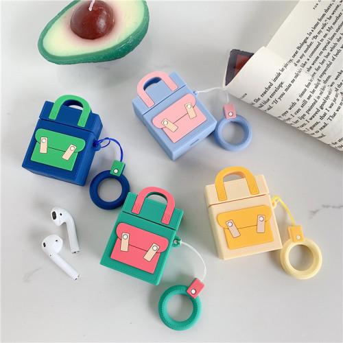 캔디 컬러 백팩 에어팟 케이스 창조적인 애플 무선 헤드폰 보호 커버