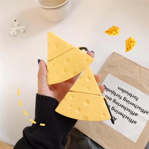 귀여운 치즈 에어팟 케이스 창조적인 애플 무선 헤드폰 보호 커버