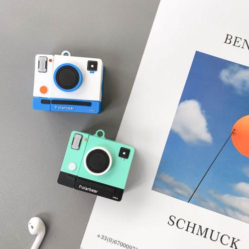 창조적인 카메라 에어팟 케이스 만화 애플 무선 무선 헤드폰 보호 커버