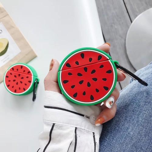 입체 멜론 에어팟 케이스 귀여운 동그란 애플 무선 헤드폰 보호 커버